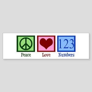 Peace Love Numbers Sticker (Bumper)
