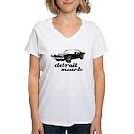 Detroit Muscle Women's V-Neck T-Shirt