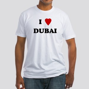 I Love Dubai Fitted T-Shirt