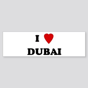 I Love Dubai Bumper Sticker