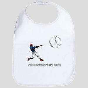 Baseball Player with Custom Text Bib