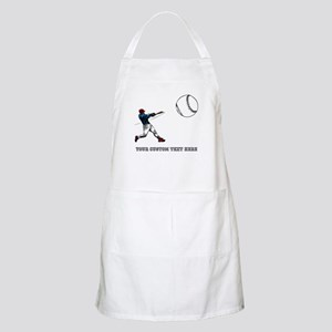 Baseball Player with Custom Text Apron
