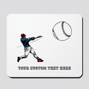 Baseball Player with Custom Text Mousepad