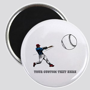 Baseball Player with Custom Text Magnet