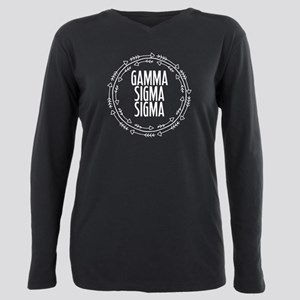 Gamma Sigma Sigma Arrows Plus Size Long Sleeve Tee