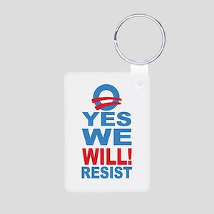 Resist Obama Aluminum Photo Keychain
