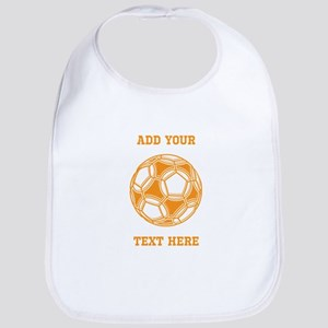 Soccer Ball. Orange with Text Bib