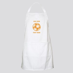 Soccer Ball. Orange with Text Apron
