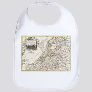 Vintage Map of Holland and Belgium (1775) Baby Bib