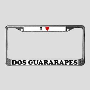 I Love dos Guararapes License Plate Frame