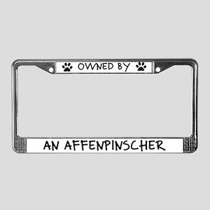 Owned by an Affenpinscher License Plate Frame