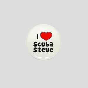 I Love Scuba Steve Mini Button