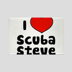 I Love Scuba Steve Rectangle Magnet