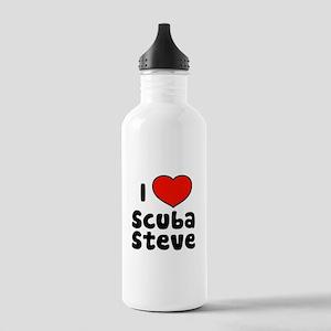 I Love Scuba Steve Stainless Water Bottle 1.0L
