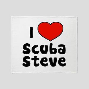 I Love Scuba Steve Throw Blanket