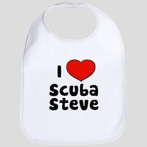 I Love Scuba Steve Bib
