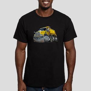 Mack Dump Truck Yellow Men's Fitted T-Shirt (dark)