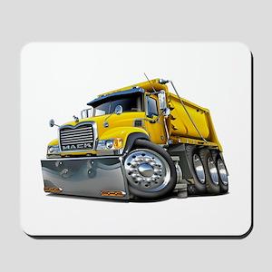 Mack Dump Truck Yellow Mousepad