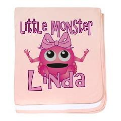 Little Monster Linda baby blanket