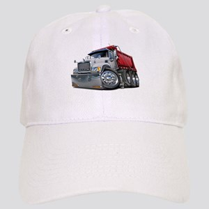 Mack Dump Truck White-Red Cap