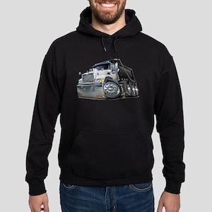 Mack Dump Truck White-Black Hoodie (dark)
