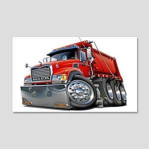 Mack Dump Truck Red 22x14 Wall L