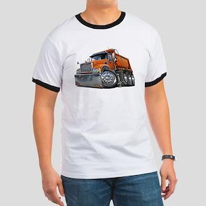 Mack Dump Truck Orange Ringer T
