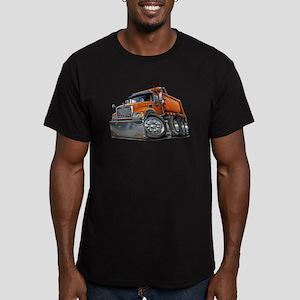 Mack Dump Truck Orange Men's Fitted T-Shirt (dark)