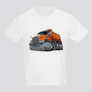 Mack Dump Truck Orange Kids Light T-Shirt