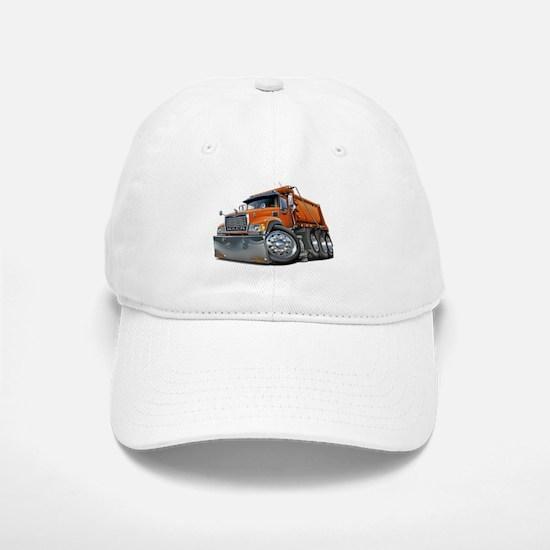 Mack Dump Truck Orange Baseball Baseball Cap