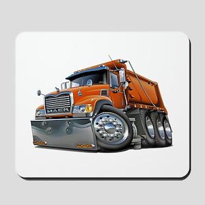 Mack Dump Truck Orange Mousepad