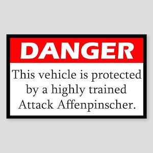 Attack Affenpinscher Sticker