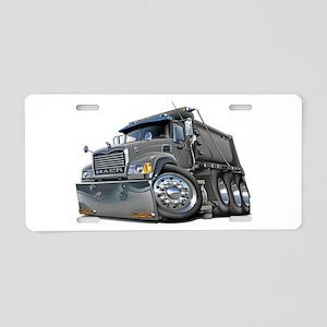 Mack Dump Truck Grey Aluminum License Plate