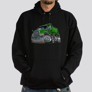 Mack Dump Truck Green Hoodie (dark)