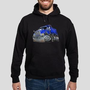 Mack Dump Truck Blue Hoodie (dark)