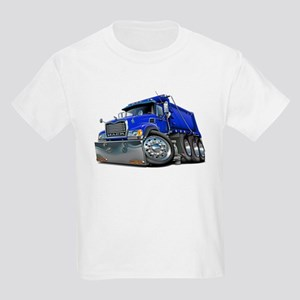 Mack Dump Truck Blue Kids Light T-Shirt