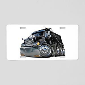 Mack Dump Truck Black Aluminum License Plate