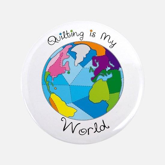 "Quilter World 3.5"" Button"
