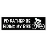 Bike Riding Bumper Sticker
