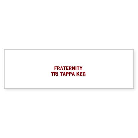 Fraternity Tri Tappa Keg Sticker (Bumper)