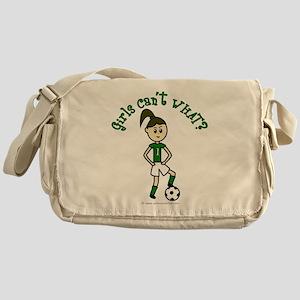 Light Green Soccer Messenger Bag
