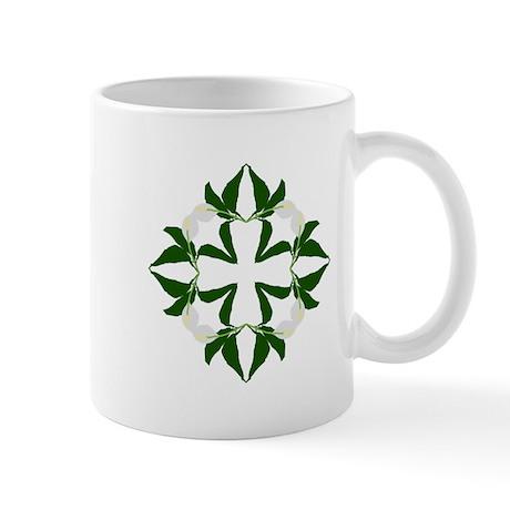 Peace lily quilt block Mug