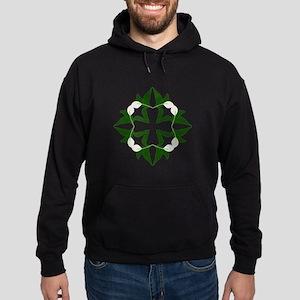 Peace lily quilt block Hoodie (dark)