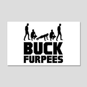 Buck Furpees Burpees Fitness 22x14 Wall Peel
