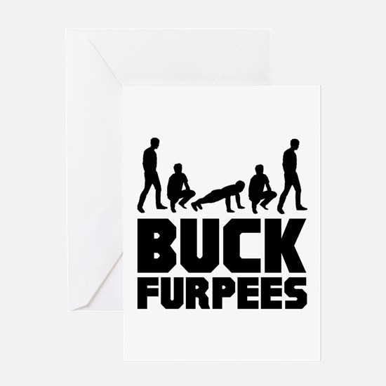 Buck Furpees Burpees Fitness Greeting Card