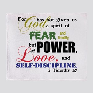Power, Love, Self-discipline Throw Blanket