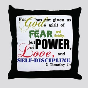 Power, Love, Self-discipline Throw Pillow