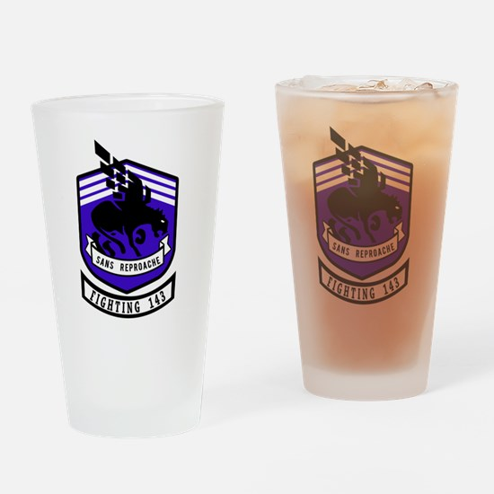 VF-143 Pukin' Dogs Drinking Glass