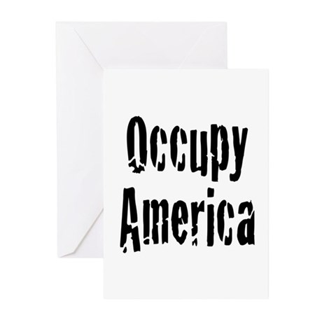 Occupy America Greeting Cards (Pk of 10)