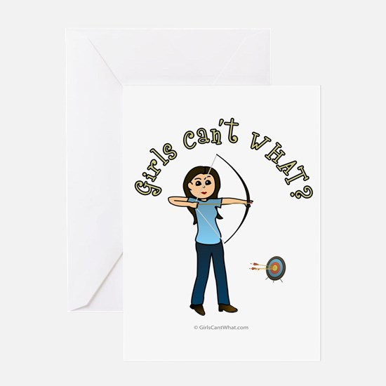 Light Blue Archery Greeting Card
